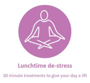 Lunchtime de-stress button