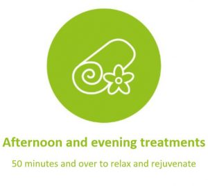 Afternoon and evening treatments